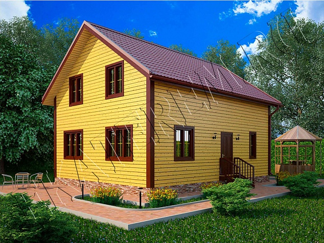 Проект Н-45: Дом из бруса, 8х10 м. 770 000 рублей - Екатерем